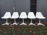 Eero Saarinen dining chairs, 5 x_