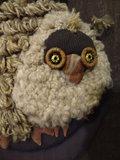 Handmade Owl Silk Wool 1970's_