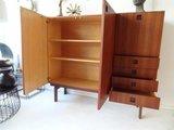 teak/wenge cabinet, Hulmefa, japan style, Dutch design 1955_