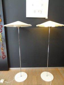 vintage vloerlampen Italiaans, 60's design, 2 stuks